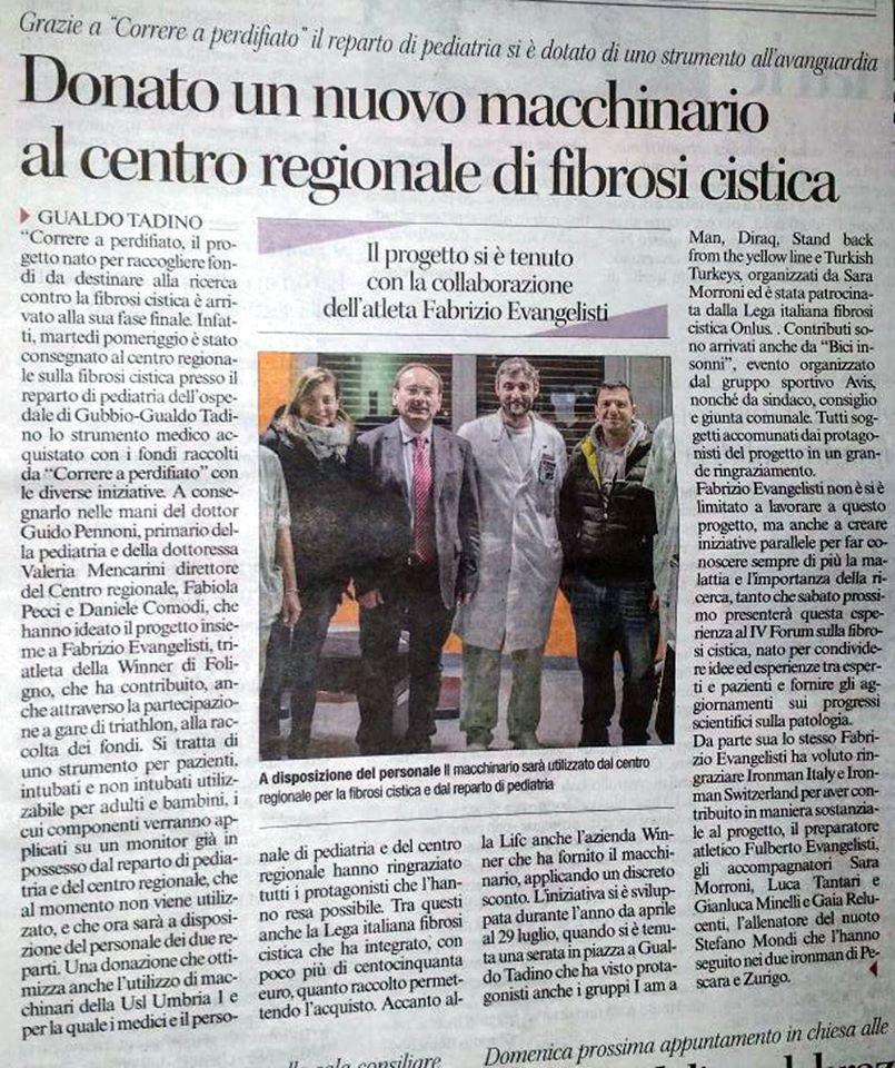 Rilevatore CO2 donato al CRFC Umbria