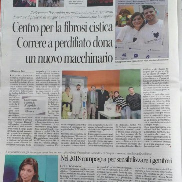 Dicono di Noi – Corriere dell'Umbria del 06-01-2018